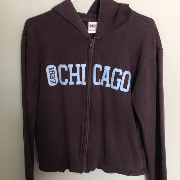 MV Sport brown zippered sweatshirt